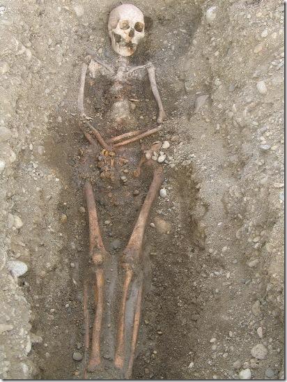 Squelette mérovingien